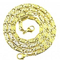 Set colectie colier bratara argint, placate aur, vermeile, model vechi grecesc