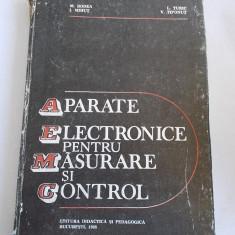 APARATE ELECTRONICE PENTRU MASURARE SI CONTROL - Mircea Bodea, Ioan Mihut - Carti Electronica