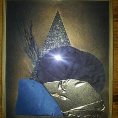 TABLOU decorativ din materiale textile - Tablou autor neidentificat, Nonfigurativ, Guasa, Altul