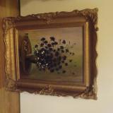 Tablou garofite, Flori, Ulei, Realism