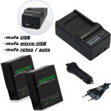 PATONA  Premium | Incarcator 4in1 + 2 Acumulatori pt GoPro HD Hero 3 3+ AHDBT301
