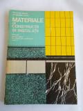 MATERIALE DE CONSTRUCTII SI INSTALATII- Nicolae Mihail, Athanasie Mirea