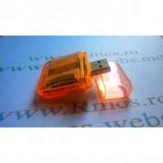 USB Card Reader Compatibilitati orange:SD, MMC, M2, Micro SD, Produo.USB 2.0 48-in-1