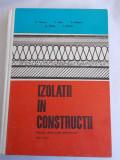IZOLATII IN CONSTRUCTII - C. STOICA, V. STAN, V. NITESCU, A. SCULY, T. CISZAR