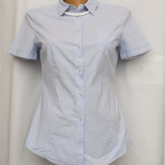 Camasa stretch bleu pal cu maneca scurta S/M- MARC O'POLO