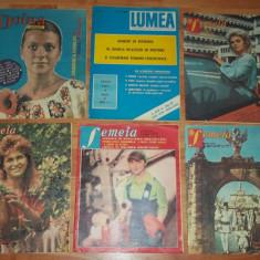 lot sase reviste Femeia, Doina si Lumea 1981-1991
