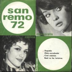 VINIL -SAN REMO,, 72 CORINA CHIRIAC SI MARGARETA PASLARU - Muzica Pop electrecord