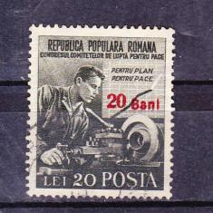 Timbre ROMANIA 1952 = LUPTA PENTRU PACE CU SUPRATIPAR