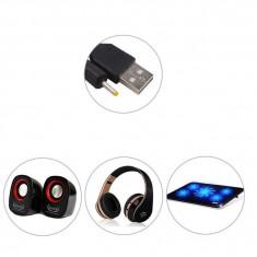 Cablu de incarcare USB mufa 2.5mm 5V 2A pentru tableta, casti, boxe portabile