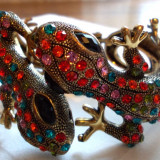 Bratara cristale swarovski model șopârle - Bratara Fashion