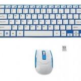 Kit Wireless Tastatura Ultra Slim si Mouse, Fara fir