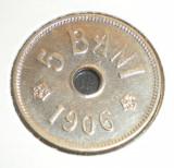 5 bani 1906 XF - cu fire, eroare