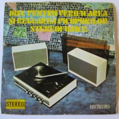 RAR! VINIL SINGLE ELECTRECORD PENTRU VERIF.SI REGLAREA PICUPURILOR STEREOFONICE - Muzica Pop