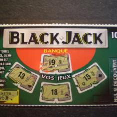 BILET LOTERIE - BLACK JACK - FRANTA - FOLOSIT .