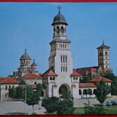 Vedere/ Carte postala - Alba Iulia - Catedrala Ortodoxa - Carte Postala Banat dupa 1918, Circulata, Printata