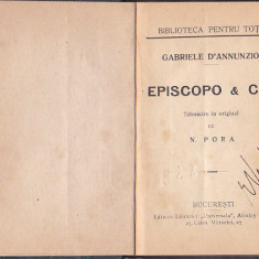 GABRIELE D'ANNUNZIO - EPISCOPO & C-IE ( INTERBELICA, RELEGATA )