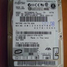 Hard Disk Laptop HDD 80 GB Fujitsu Siemens MHT2080AH IDE PATA PERFECT! - HDD laptop Fujitsu, 41-80 GB, Rotatii: 5400, 8 MB