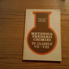 METODICA PREDARII CHIMIEI - cl. VII - VIII - C. Gheorghiu - 1982, 176 p.