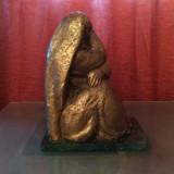 Sculptura Statuie bronz patinat semnata Corneliu Virgiliu Medrea,,, Femeie'', Abstract, Europa