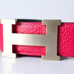 Hermes Paris Curea piele naturala reversibila catarama polisata Made in France - Curea Dama Hermes, Marime: Marime universala, Culoare: Din imagine