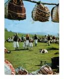 Carte Postala / vedere 1966 DEC, Sambra la oi satul Moiseni, circulata, traditii, Necirculata, Printata