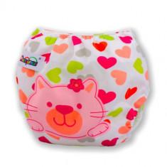 Scutec bebe pampers reutilizabil lavabil hello kitty body roz ajustabil 3-13kg - Scutece lavabile copii AngelSounds, 0-5 luni, 4-16 kg