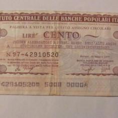 CY - 100 lire 1977 Italia Banca di Merano - Cambie si Cec