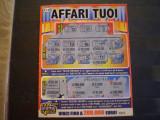 BILET  LOTO - AFFARI  TUOI - ITALIA - FOLOSIT.