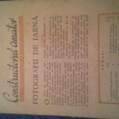 CONSTRUCTORUL AMATOR SUPLIMENT STIINTELOR, 7 DEC 1948, 16PAG - Revista auto
