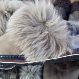 Papuci blana naturala - Papuci dama, Marime: Alta
