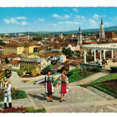 Carte Postala / vedere 1968 Cluj si costume folclorice, necirculata - Carte Postala Transilvania dupa 1918, Printata
