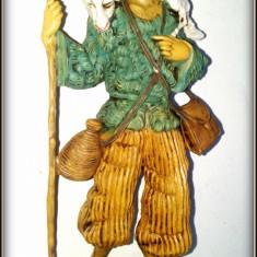 Figurina / statueta plastic - cioban - Fabricata in Italia - Miniatura Figurina