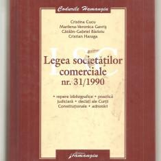 (C6191) LEGEA SOCIETATILOR COMERCIALE NR.31/1990 DE CRISTINA CUCU - Carte eCommerce