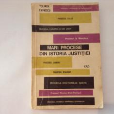 Yolanda  Eminescu Mari procese din istoria justitiei Ed. St. 1970,RF8/2, Alta editura
