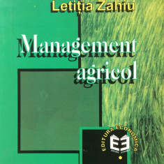 MANAGEMENT AGRICOL - Letitia Zahiu - Carte Management
