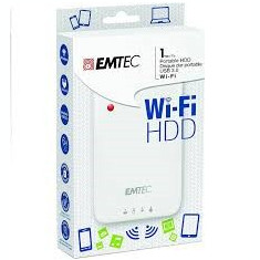 HDD portabil WI-Fi 1 TB (USB 3.0) - EMTEC ECHDD1000P600 - HDD extern Emtec, 1-1.9 TB, 2.5 inch