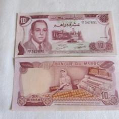 MAROC 10 DINARI / 1970. aUNC. - bancnota africa