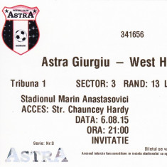 Bilet meci fotbal ASTRA GIURGIU - WEST HAM UNITED 06.08.2015