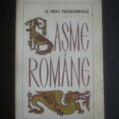 G. DEM. TEODORESCU - BASME ROMANE, Anul publicarii: 1966