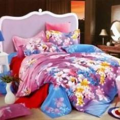 Lenjerii De Pat Dublu Bumbac Usor Satinat 4 Piese Cutie Lux 5 - Lenjerie de pat, Bumbac Satinat
