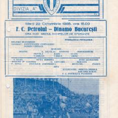 Program meci fotbal PETROLUL PLOIESTI - DINAMO BUCURESTI 22.10.1985