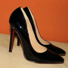 Pantofi stiletto - Pantof dama, Culoare: Din imagine, Marime: 37, Piele sintetica, Cu toc