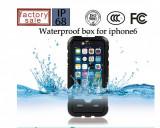 Toc subacvatic negru cu prelungitor casti audio iPhone 6 4.7 + folie protectie, iPhone 5/5S/SE, Albastru, Plastic, Apple