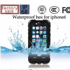 Toc subacvatic negru cu prelungitor casti audio iPhone 6 4.7 + folie protectie - Husa Telefon Apple, iPhone 5/5S/SE, Albastru, Plastic