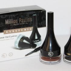 Set machiaj Million Pauline tus eyeliner gel negru + maro, rezistente 24 ore - Tus ochi