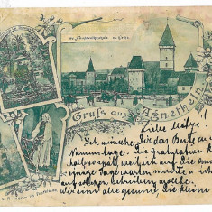 858 - Litho, Sibiu, AGNITA - old postcard - used - 1899 - Carte Postala Transilvania pana la 1904, Circulata, Printata