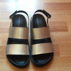 Sandale - Sandale dama H&m, Culoare: Argintiu, Marime: 39, Textil