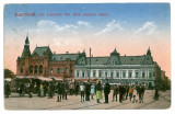 1721 - ORADEA, Market - old postcard - used - 1917, Circulata, Printata