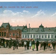 1721 - ORADEA, Market - old postcard - used - 1917 - Carte Postala Crisana 1904-1918, Circulata, Printata
