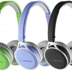 Casti ESPERANZA Yoga, wireless, albastre, Casti On Ear, Active Noise Cancelling